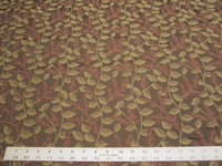 2 1/4 yards of leaf and bloom pattern crypton upholstery fabric