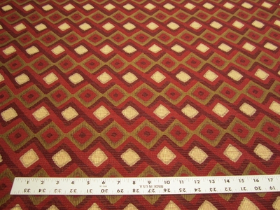 2 1/4 yards of Robert Allen Hombre red hot upholstery fabric