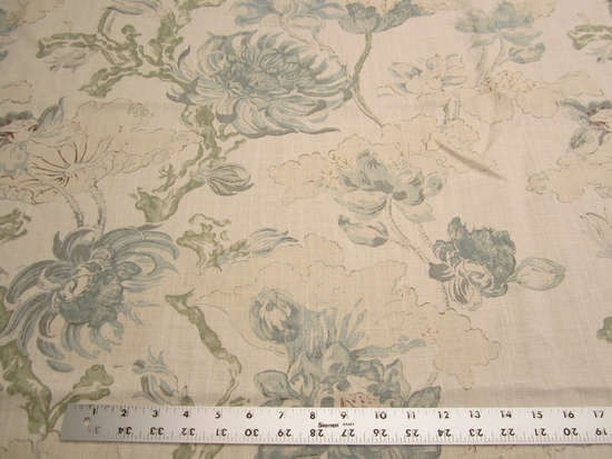 2 1/4 yards of Thalia floral print upholstery, drapery fabric