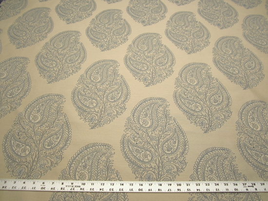 2 1/4 yards Okemo bluebell damask upholstery fabric by Robert Allen