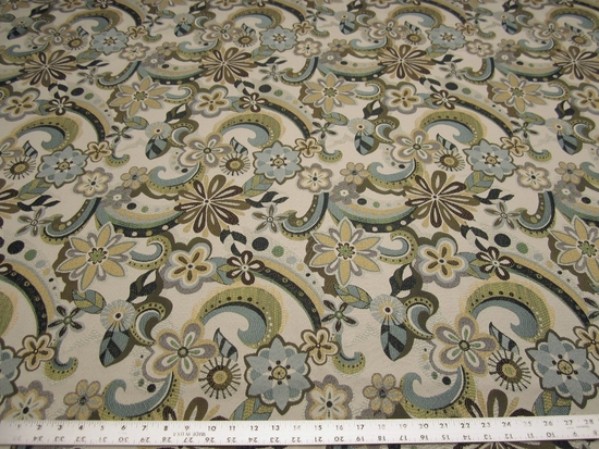 2 1/8 yards of paisley pattern upholstery fabric