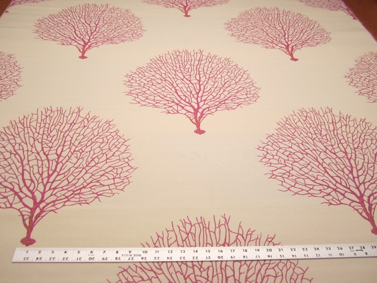 2 1/8 yards of Robert Allen Tree Branch Fuchsia upholstery fabric