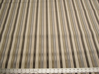 2 1/8 yards of striped velvet upholstery fabric