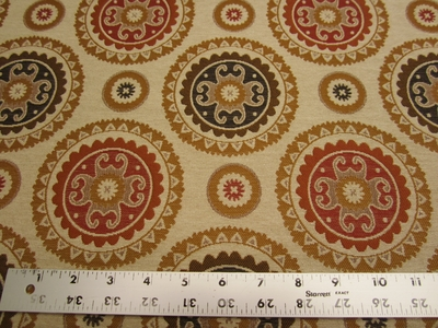 2 1/8 yards of suzanni jacquard upholstery fabric
