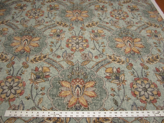 2 1/8 yards P. Kaufmann Andalucia Persian cotton print drapery fabric