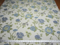 2 1/8 yards Robert Allen Large Buds Bluebell floral upholstery fabric
