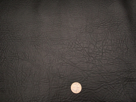 2 3/4 yards black grained vinyl upholstery fabric