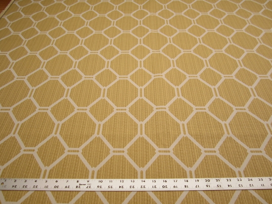 2 3/4 yards of geometric jacquard upholstery fabric