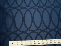 2 3/4 yards of navy blue geometric damask upholstery fabric