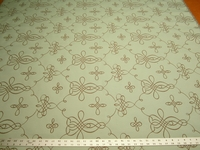 2 3/4 yards of scroll patterned formal upholstery fabric