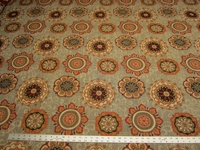 2 3/8 yard of Chanterelle medallion patterned tapestry upholstery fabric