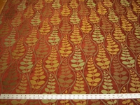 2 3/8 yards Fabricut Ceres spice chenille mix upholstery fabric