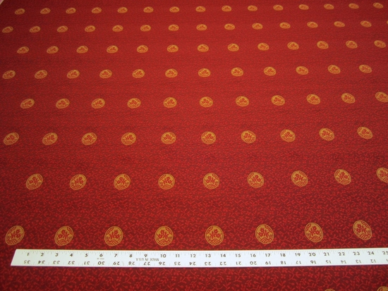 2 3/8 yards Robert Allen Ashburton medallion upholstery fabric