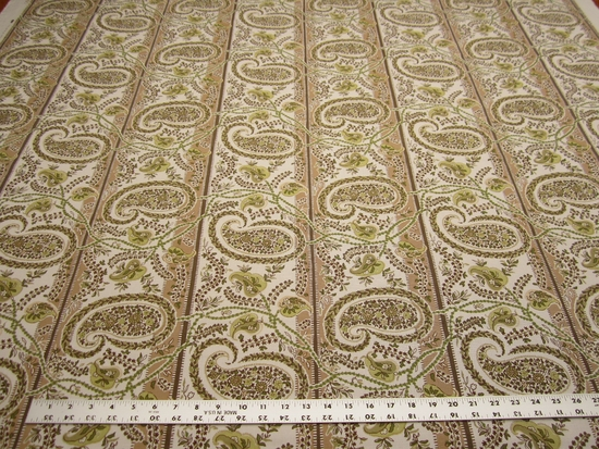 2 5/8 yards of Charlotte Moss Thalien Kiwi print fabric from Fabricut