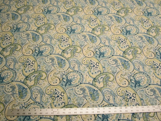 2 5/8 yards of Duralee paisley printed upholstery, drapery fabric