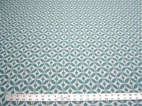 2 5/8 yards of Lescott Pool geometric design upholstery fabric