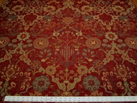 2 5/8 yards of Robert Allen Austwell red hot chenille upholstery fabric