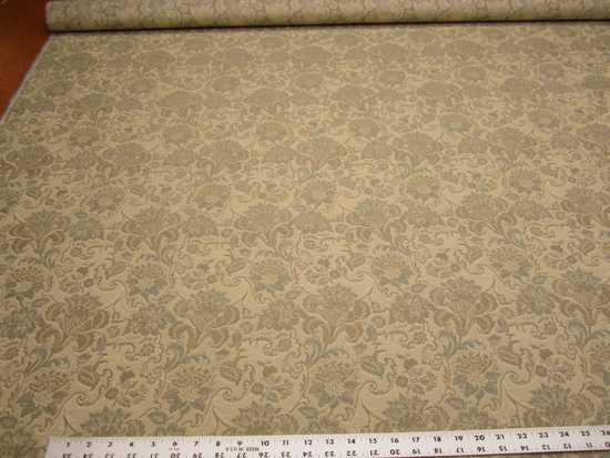 2 7/8 yards of floral tapestry upholstery fabric