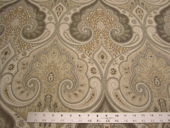2 yard Kravet Latika damask color limestone linen print fabric