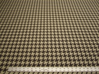 2 yards of Fabricut Houndstooth Flint textured upholstery fabric