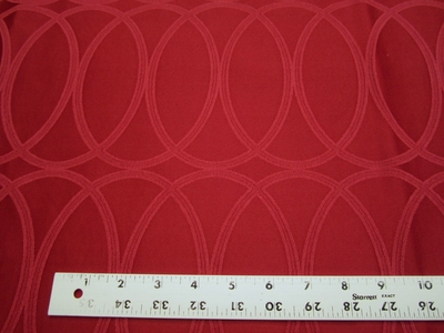 2 yards of Luna Red Geometric Upholstery Fabric