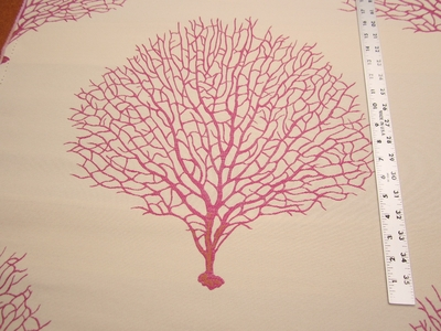 2 yards of Robert Allen Tree Branch Fuchsia upholstery fabric