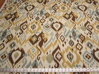 2 yards of Swavelle Mill Creek Gunnison ikat cotton print drapery fabric