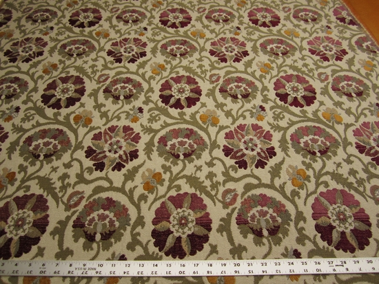 3 1/2 yards Duralee Highland Court Saxton Plum upholstery fabric