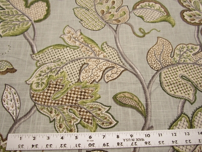 3 1/2 yards of Duralee Jacobean print upholstery/drapery fabric
