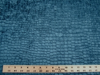 3 1/4 yards Fabricut alligator patterned velvet upholstery fabric