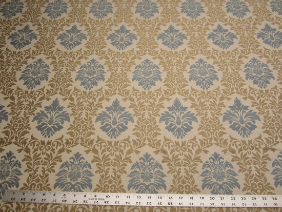 3 1/4 yards of Duralee 15325-678 Bluebell damask upholstery fabric r2240