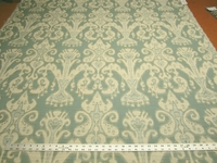 3 1/4 yards of Kravet aqua Ikat design upholstery fabric