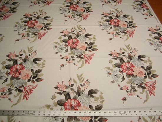 3 1/4 yards Sandown & Bourne Rosalie floral print cotton drapery fabric