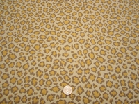 3 1/8 yards of Fabricut Cheetah Canary upholstery fabric