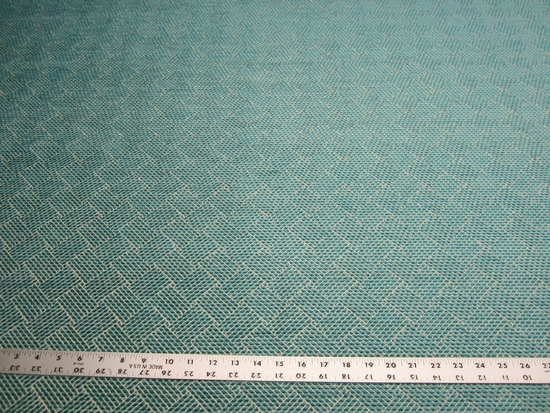 3 1/8 yards Robert Allen Marble Arch upholstery fabric turquoise