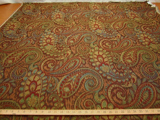 3 1/8 yards Robert Allen Tamil Paisley upholstery fabric color Henna