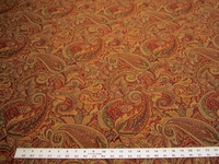 3 3/4 yards of paisley jacquard upholstery fabric