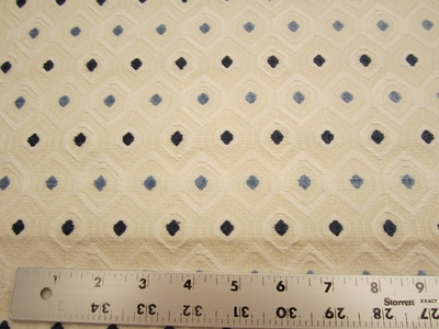 3 3/4 yards of textured diamond pattern upholstery fabric