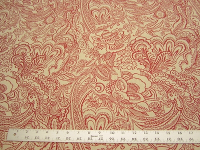 3 3/8 yards Celia color raspberry upholstery fabric