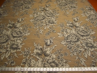 3 3/8 yards floral toile upholstery fabric