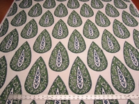 3 3/8 yards Sonia color jade print drapery and upholstery fabric