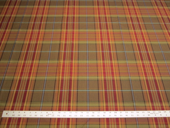 3 5/8 yards of plaid upholstery fabric
