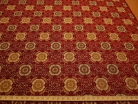 3 5/8 yards Raphael's Medallion Scarlet Upholstery Fabric by Stroheim & Romann
