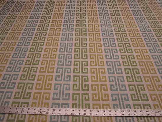 3 5/8 yards Tarlo geometric upholstery fabric color citron