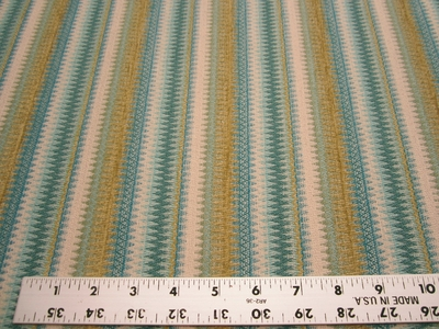 3 5/8 yards textured chenille mix stripe upholstery fabric