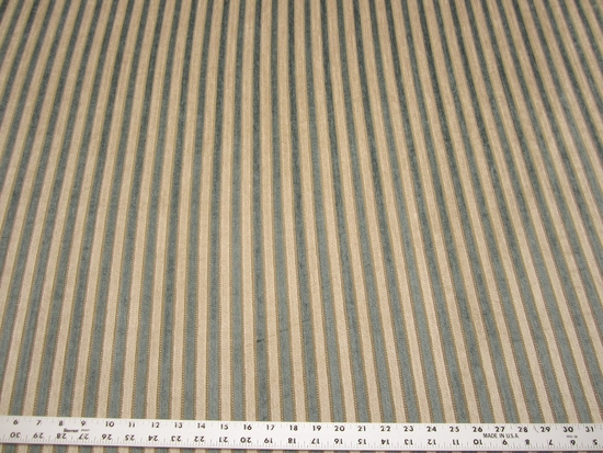 3 7/8 yards chenille stripe upholstery fabric