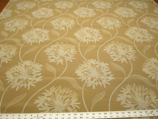 3 7/8 yards of damask flower indoor outdoor upholstery fabric