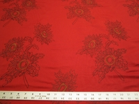 3 7/8 yards of embroidered drapery fabric