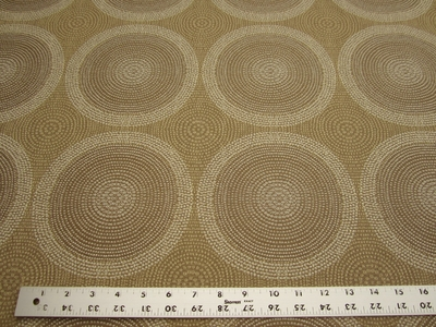 3 7/8 yards of geometric circle upholstery fabric