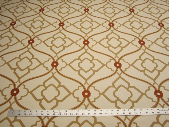 3 7/8 yards of Kravet Zuma color ginger embroidered multi purpose fabric